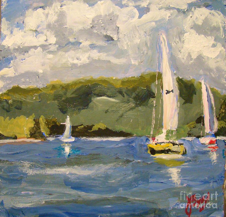 Smith Mountain Lake Virginia Painting By Joe Byrd