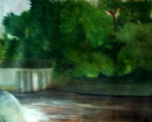 Smithville Park Painting - Smithville Park Dam by Sheila Mashaw