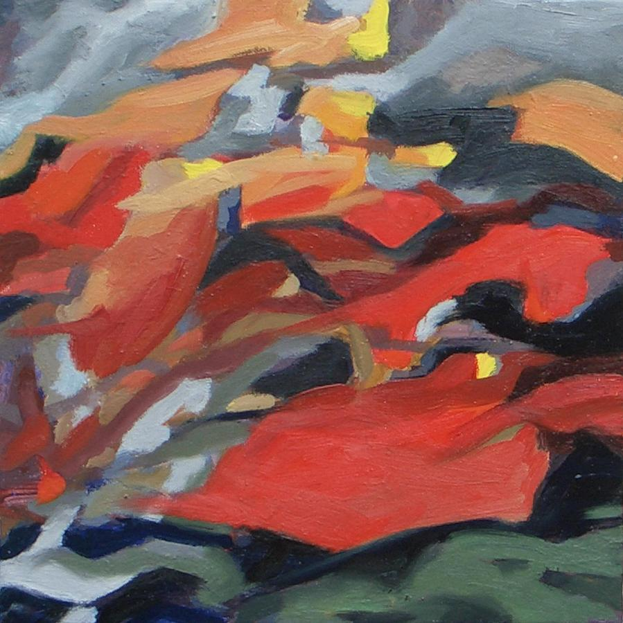 Abstract Landscape Painting - Smog And Fire by Livio Lopedote