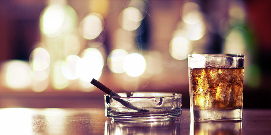 Smoke And Drink Bokeh Photograph by Andy Collins Photography
