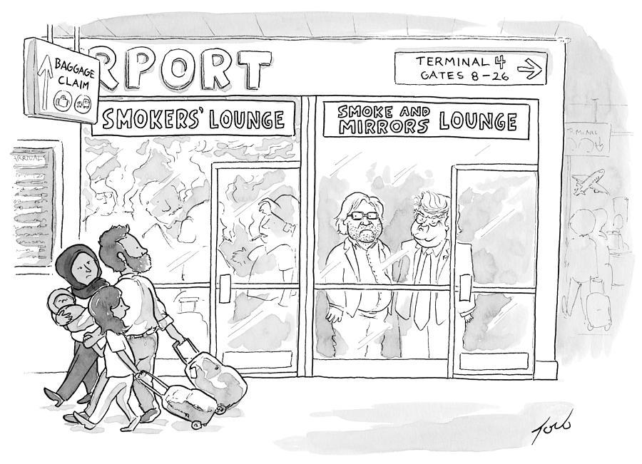 Cartoon Drawing - Smoke And Mirrors Lounge by Tom Toro