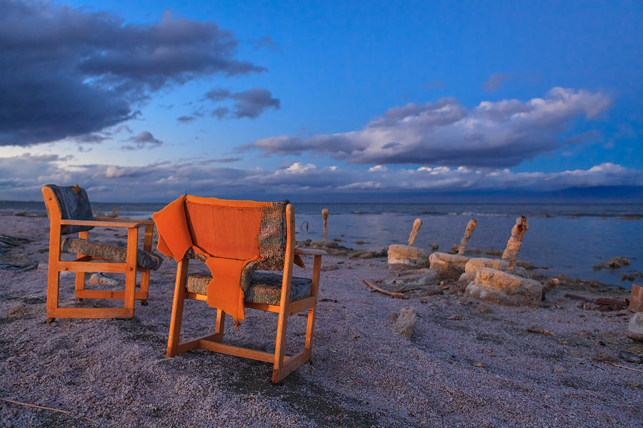 Salton Sea Photograph - Smoke Break In The Ruins by Scott Campbell