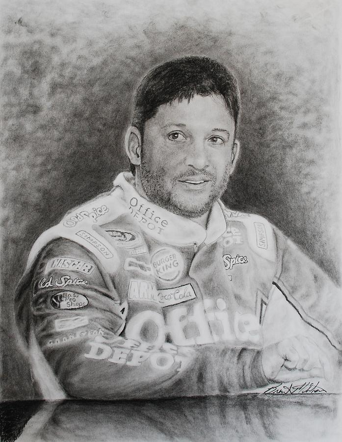 Tony Stewart Drawing - Smoke by Brent  Mileham