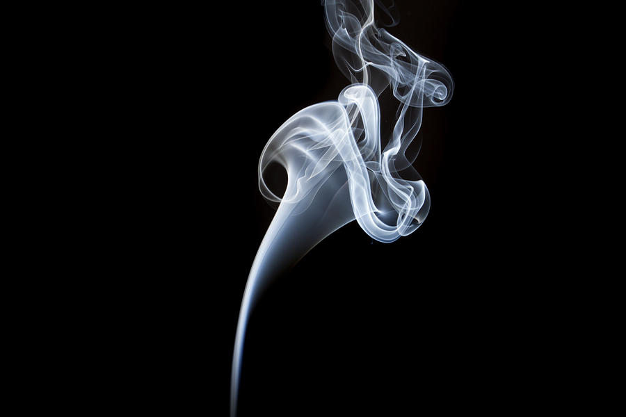 Smoke Photograph - Smoke Flower by David Barker