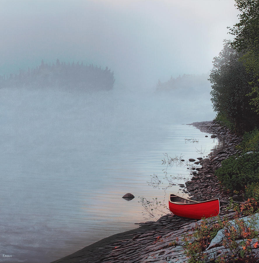 Landscape Painting - Smoke On The Water by Kenneth M  Kirsch