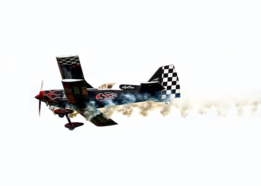 Airplane Photograph - Smoke Rings by Steven  Michael
