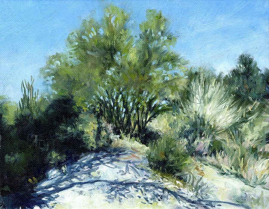 Smoke Tree Painting - Smoke Tree Path by Stacy Vosberg