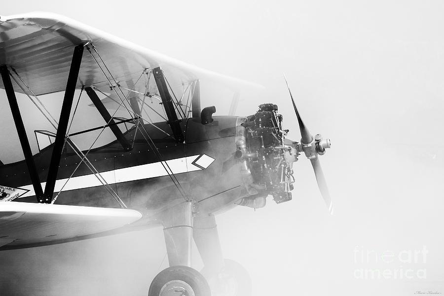 Aviation Photograph - Smoked Engine by Mkaz Photography