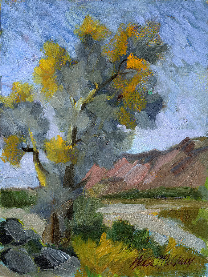 Smoketree Painting - Smoketree On A Warm Day by Diane McClary
