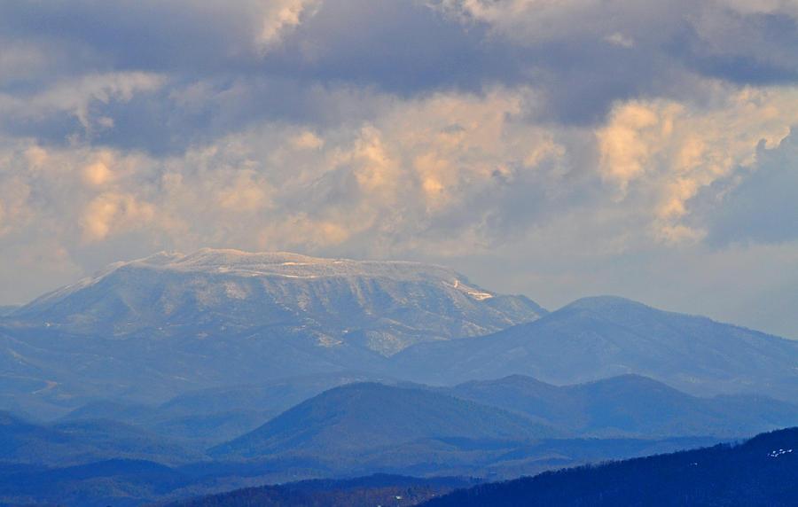 Smokey Mountains Photograph - Smokey Blue Morning by Peter  McIntosh
