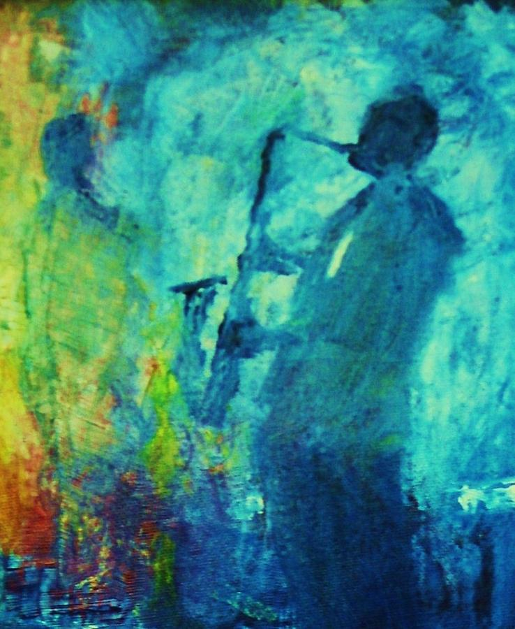 Jazz Painting - Smokey Club Gig by Dale Miller