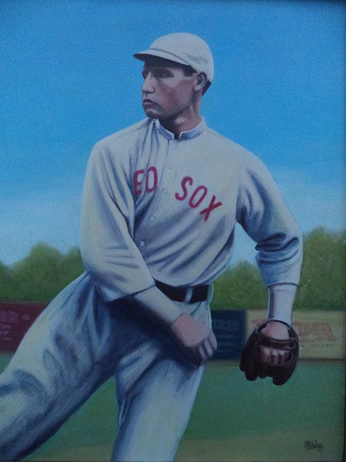 Red Sox Painting - Smokey Joe Wood by Mark Haley