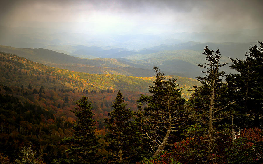 Smokey Mountains Photograph - Smokey Mountain High by Karen Wiles