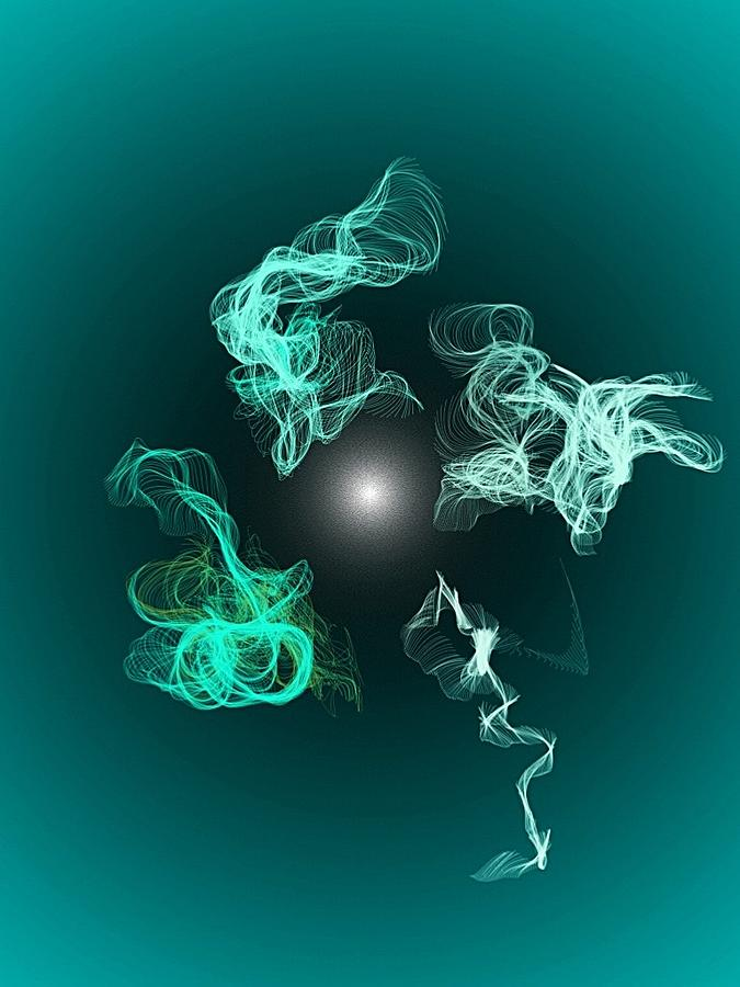 Smokey Teal by Louise Mingua