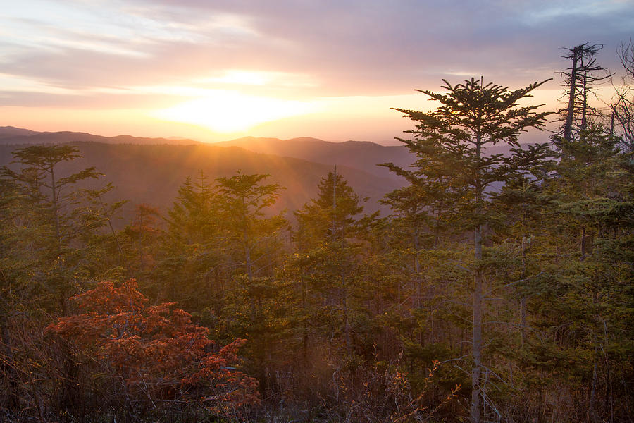 Sun Photograph - Smokies Sunset by Doug McPherson