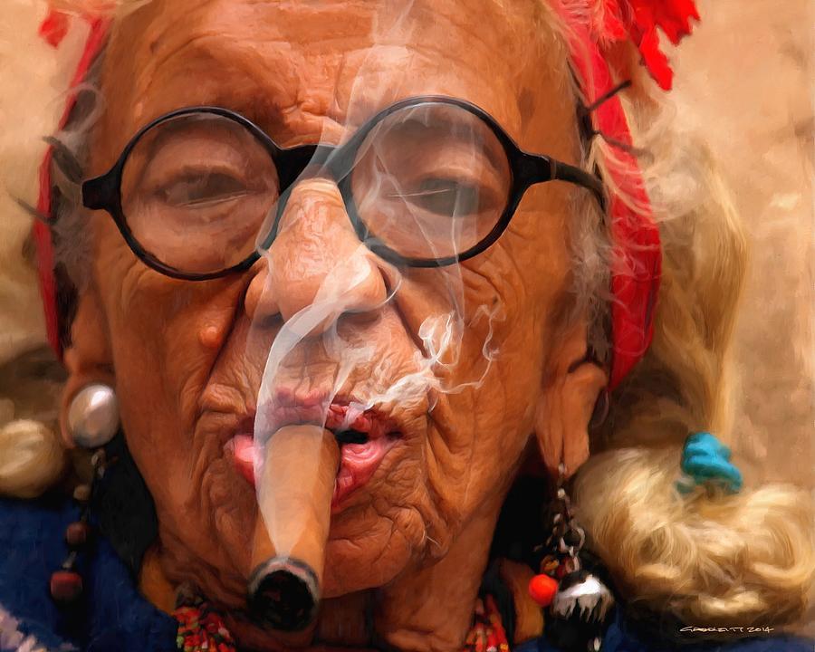 Smoking Digital Art - Smoking - Caribbean Serie by Gabriel T Toro
