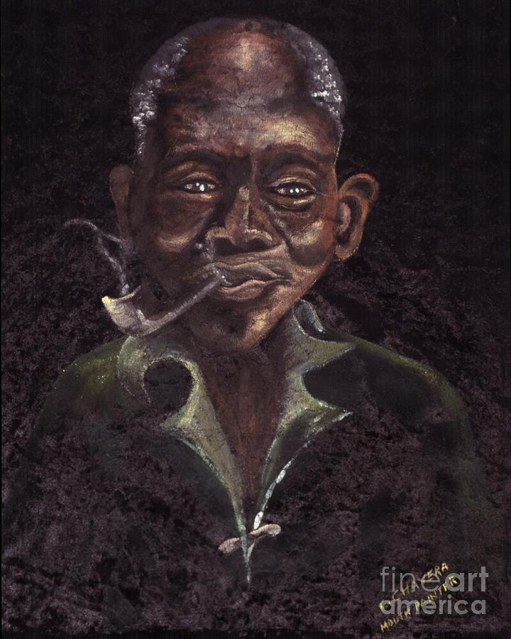 smoking painting by mount painter chrisfold chayera