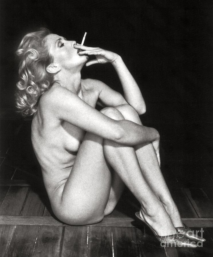 Nude Cigarette Trousers, Nude