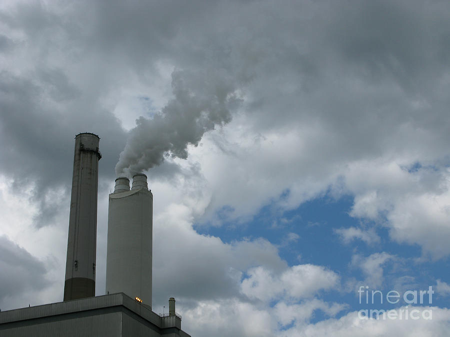 Smoke Stack Photograph - Smoking Stack by Ann Horn