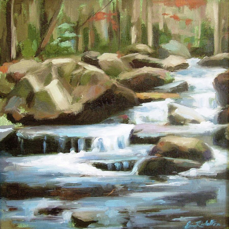 Stream Painting - Smoky Mountain Stream by Erin Rickelton