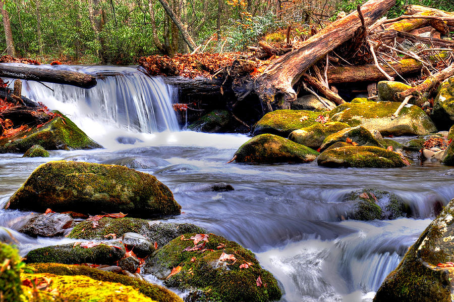 Smoky Mountain National Park Photograph - Smoky Mountain Waterfall by Craig Burgwardt