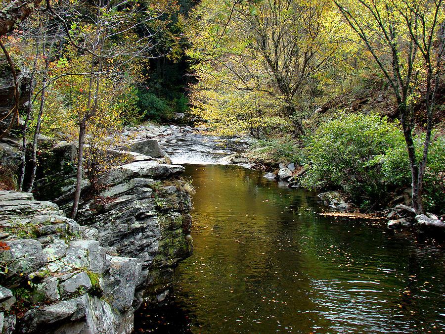 Creek Photograph - Smoky Mountian River by Sandy Keeton