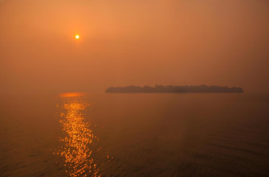 Sunrise Photograph - Smoky Sunrise by Dan Vidal