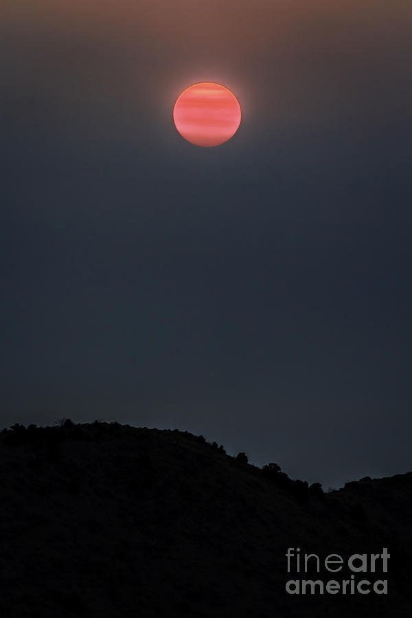 Sunrise Photograph - Smoky Sunrise by Mitch Shindelbower