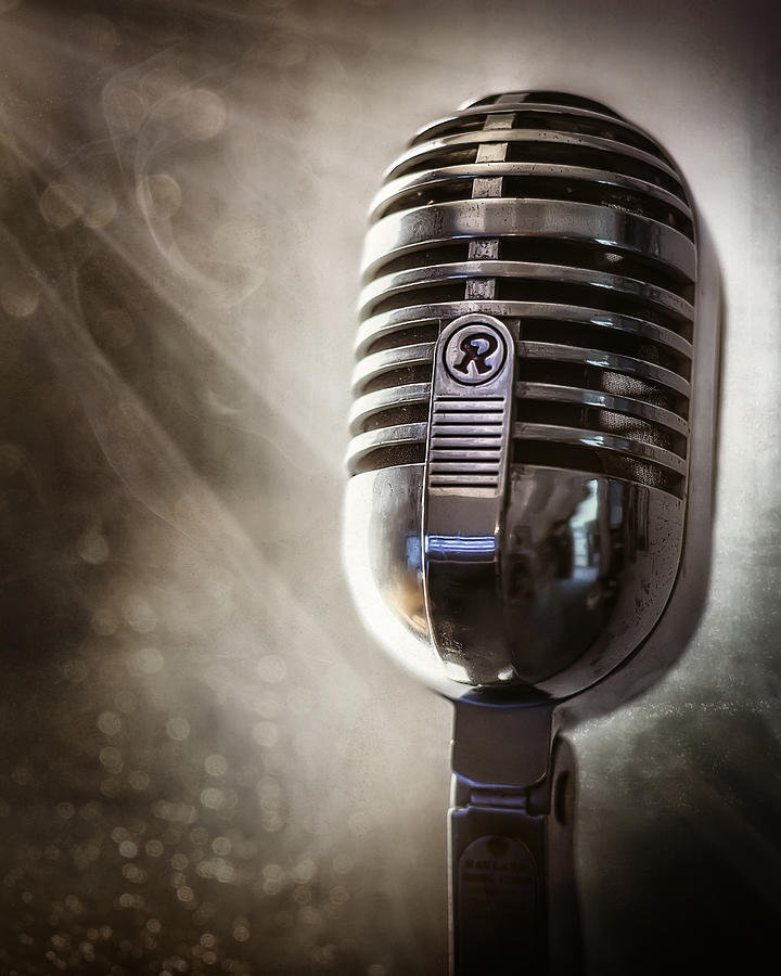 Mic Photograph - Smoky Vintage Microphone by Scott Norris