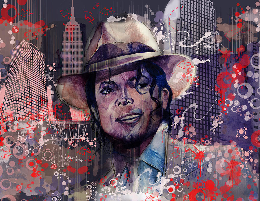 Michael Jackson Painting - Smooth Criminal by Bekim Art