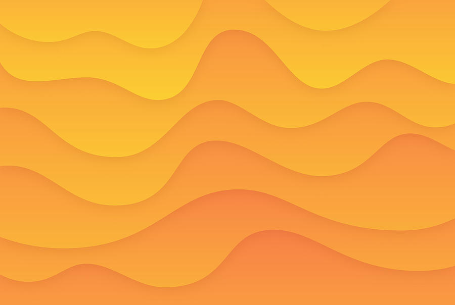 Smooth Warm Gradient Abstract Drawing by Filo