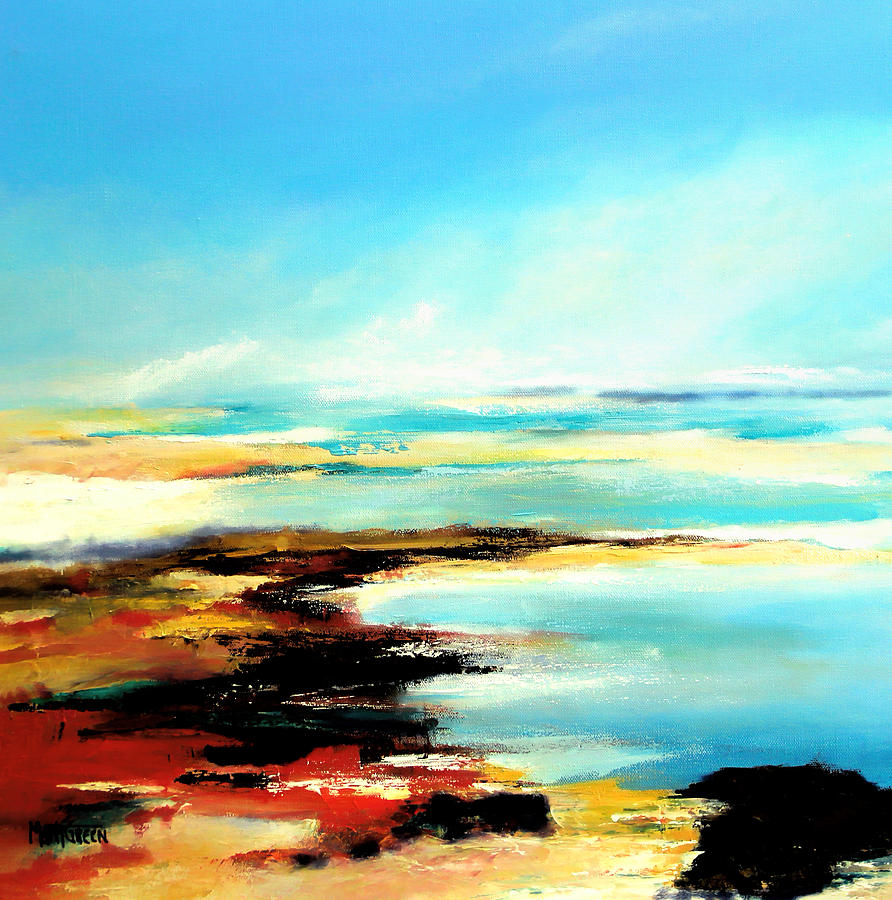 Beaches Painting - Smuggler Cove by Marti Green