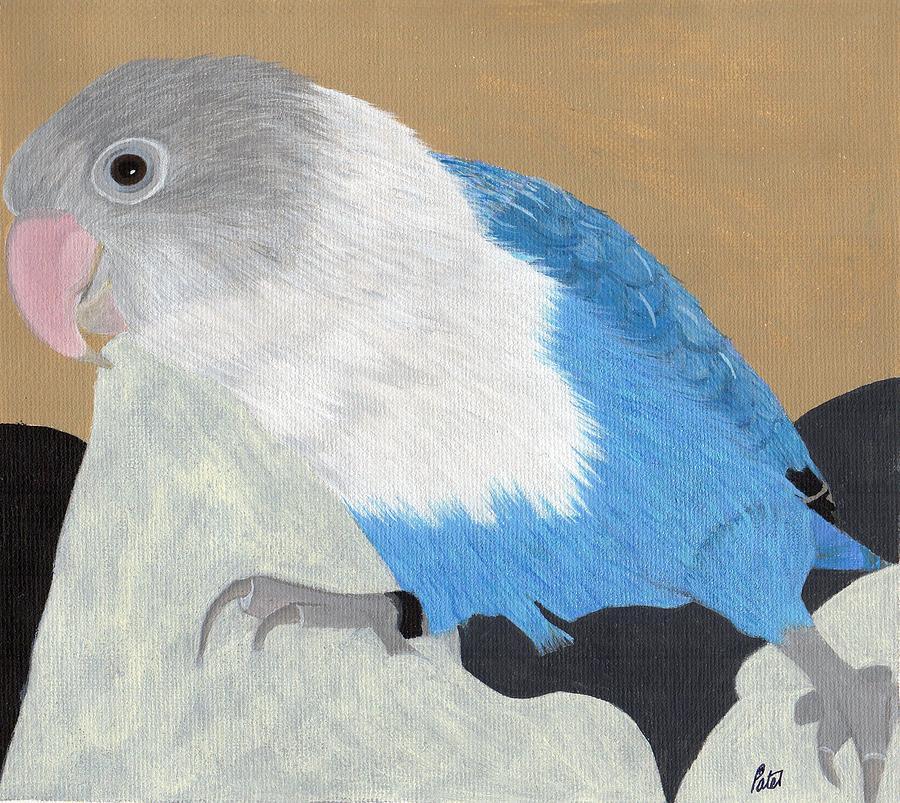 Lovebird Painting - Smurf by Bav Patel