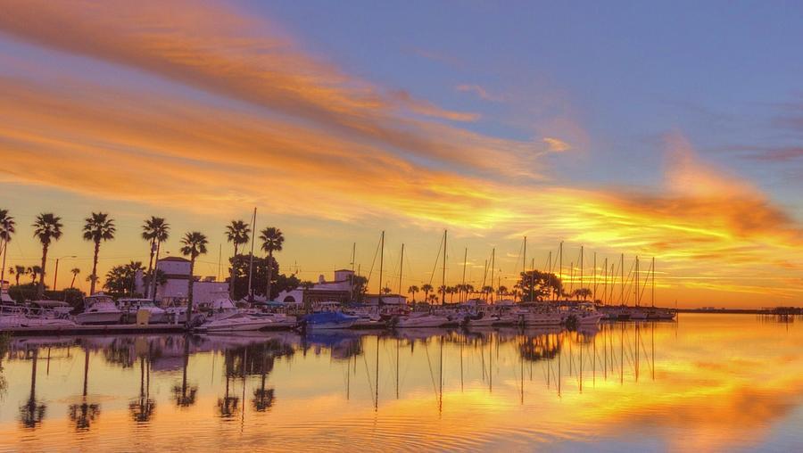 Sunrise Photograph - Smyrna Yacht Club Sunrise II by Danny Mongosa