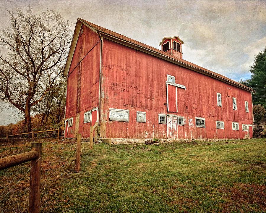 Red Barn Photograph - Smyrski Farm  by Bill Wakeley