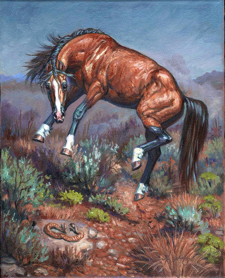 Wild Horses Painting - Sn Neigh Kk by Kerry Nelson