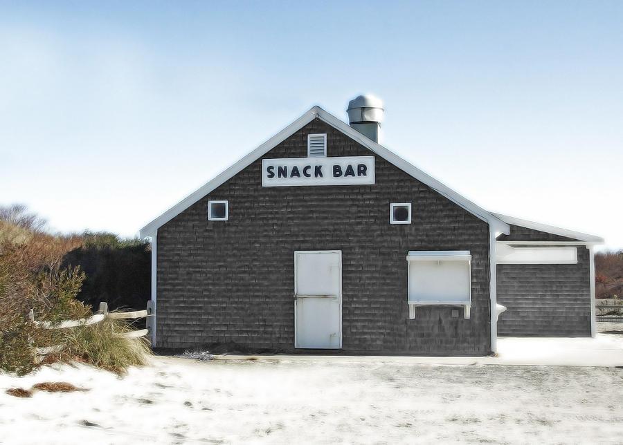 Fall Photograph - Snack Bar Off-season No. 2 by Brooke T Ryan