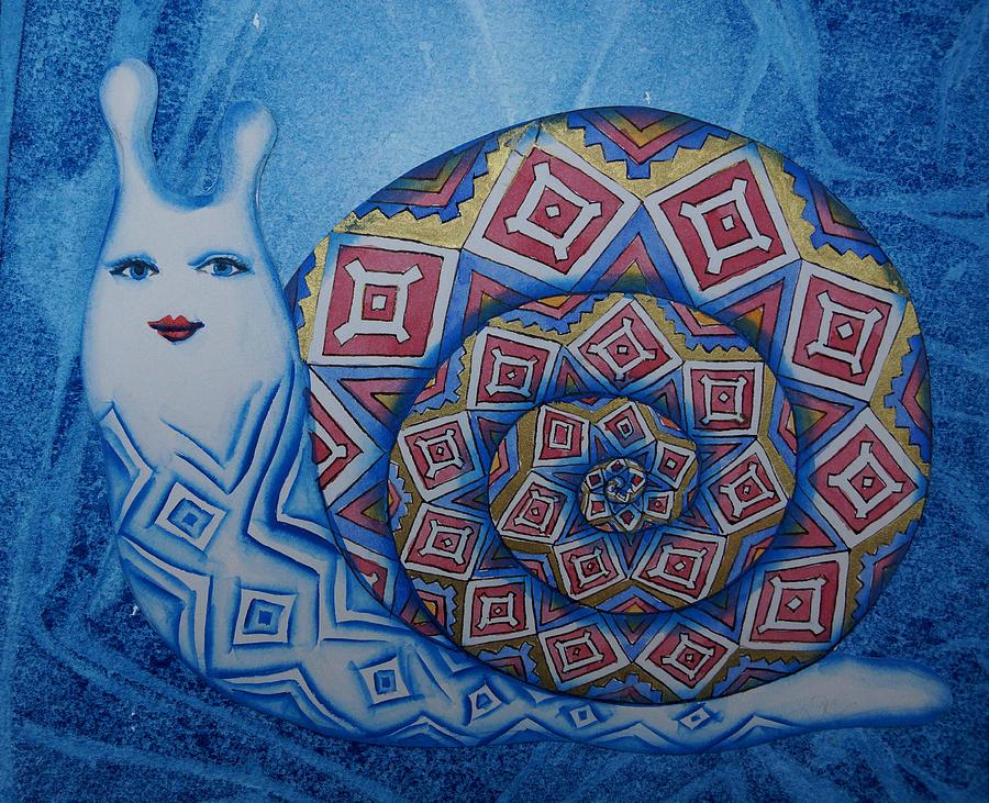 Snail Painting - Snail by Khromykh Natalia