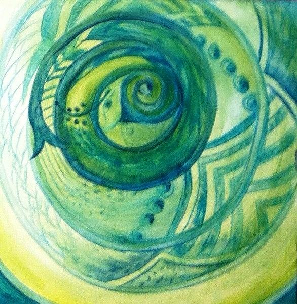 Spiral Painting - Snake by Bianca Romani
