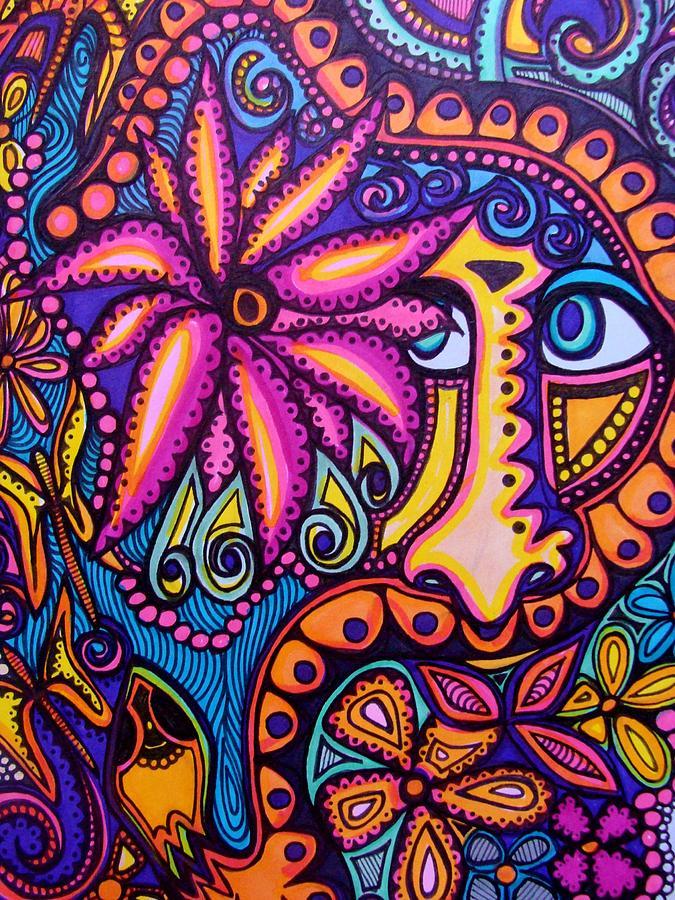 Snake Magic Drawing by Gerri Rowan