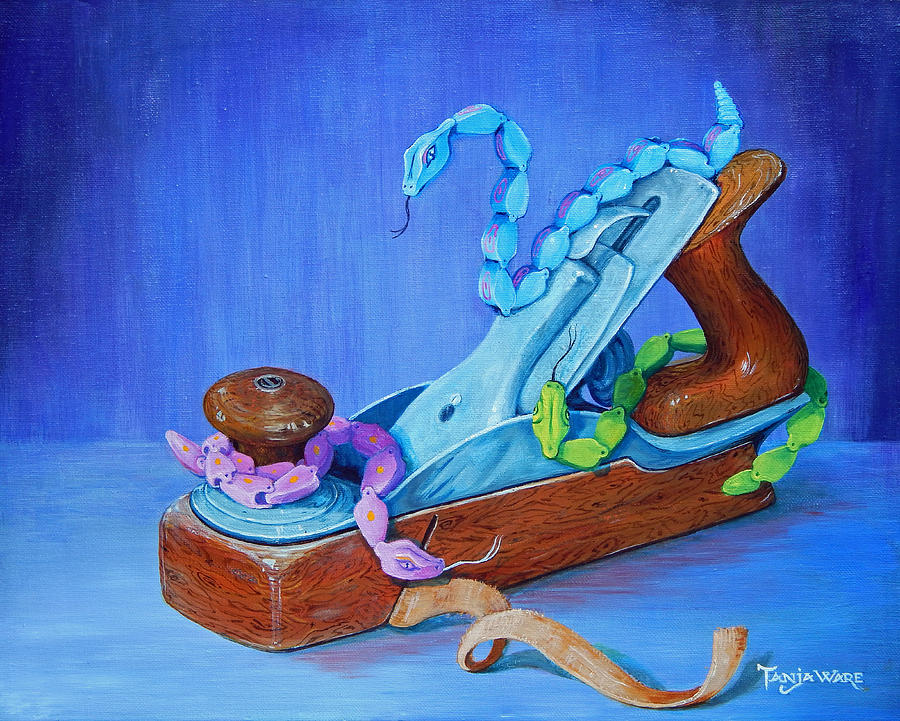 Snakes Painting - Snakes On A Plane by Tanja Ware