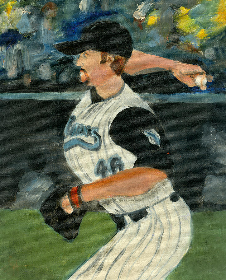 Baseball Painting - Snap The Curve by Jorge Delara