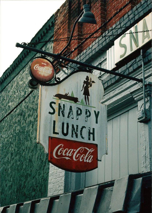 Coca-cola Photograph - Snappys by Steve Godleski