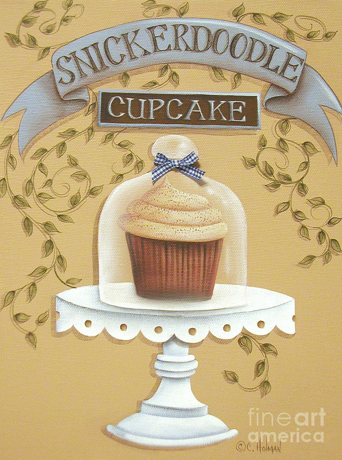 Art Painting - Snickerdoodle Cupcake by Catherine Holman