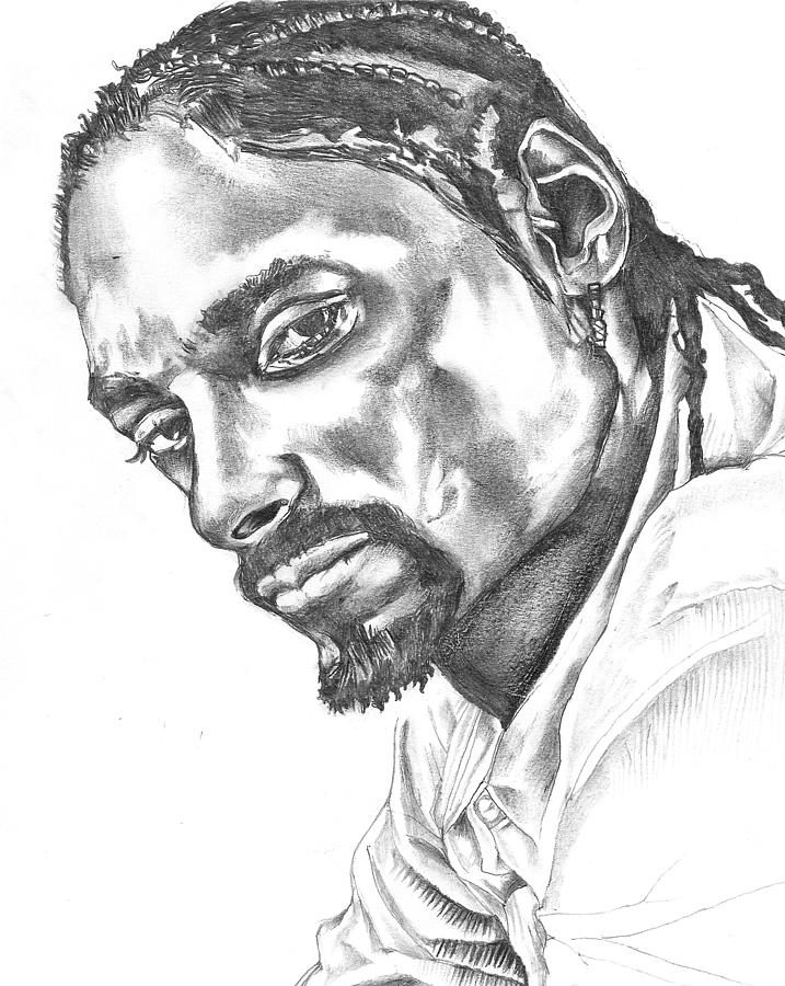 snoop dogg coloring pages | Snoop Dogg Drawing by Hiten Mistry
