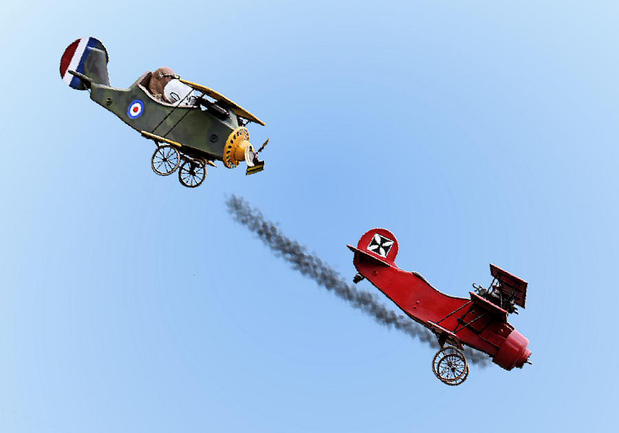 Snoopy Photograph - Snoopy And The Red Baron by Kristin Elmquist