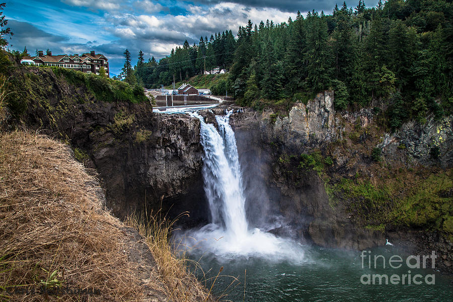 Water Fall Photograph - Snoqualmie Falls by Chris Heitstuman
