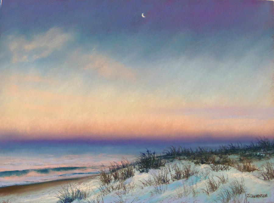Snow Pastel - Snow At Bay Head by Joan Swanson