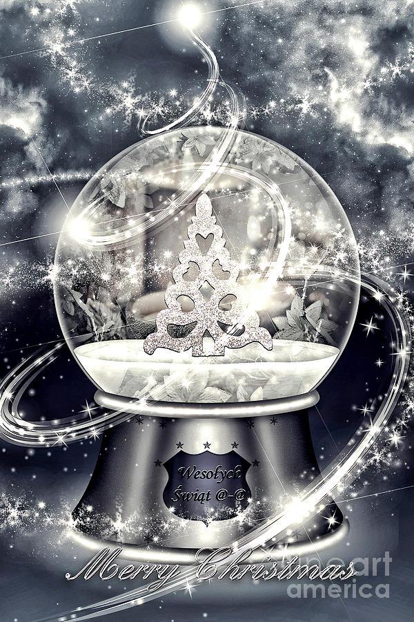 Xmas Digital Art - Snow Ball by Mo T