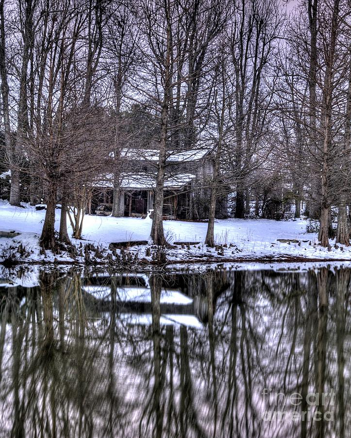 Snow Photograph - Snow Barn by Kevin Pugh